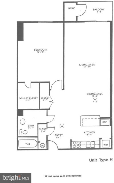 1 Bedroom, Crystal City Shops Rental in Washington, DC for $1,750 - Photo 2