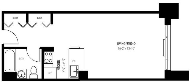 Studio, Yorkville Rental in NYC for $3,050 - Photo 2