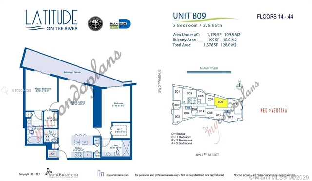 2 Bedrooms, Downtown Miami Rental in Miami, FL for $2,600 - Photo 2