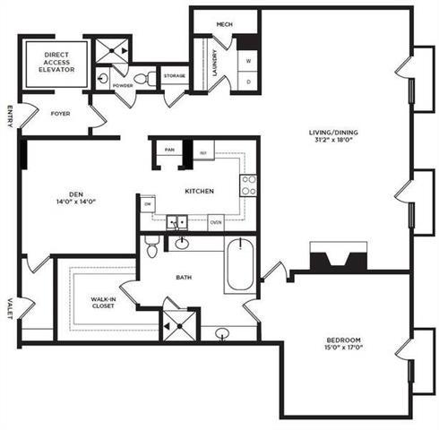 1 Bedroom, North Central Dallas Rental in Dallas for $3,828 - Photo 1
