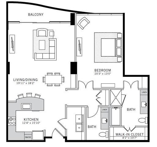 1 Bedroom, Uptown Rental in Dallas for $4,095 - Photo 2