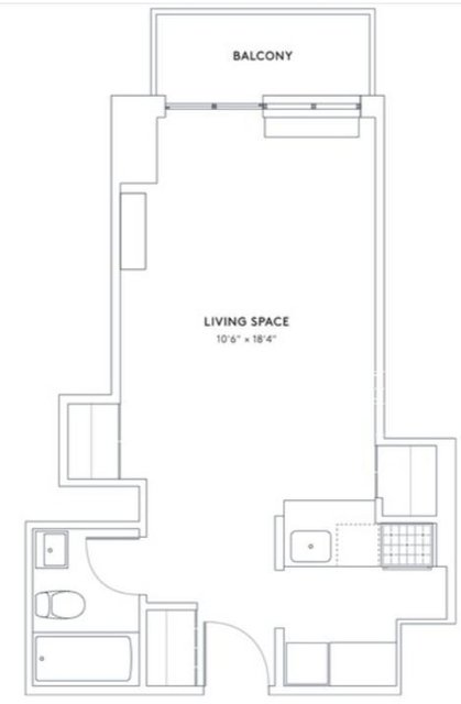Studio, Hell's Kitchen Rental in NYC for $2,299 - Photo 2