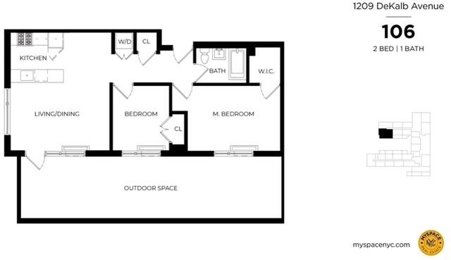 2 Bedrooms, Bushwick Rental in NYC for $3,070 - Photo 2