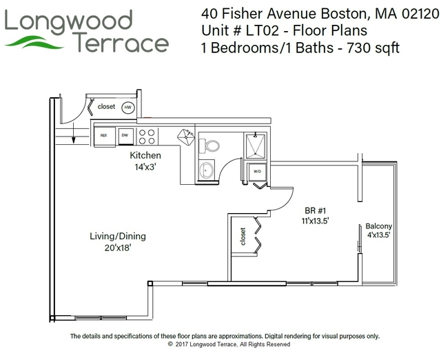 1 Bedroom, Mission Hill Rental in Boston, MA for $2,400 - Photo 2