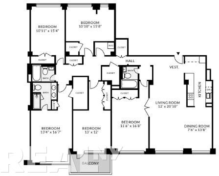 4 Bedrooms, Yorkville Rental in NYC for $12,588 - Photo 2