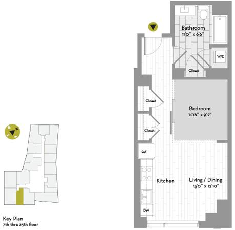 Studio, Chinatown - Leather District Rental in Boston, MA for $2,802 - Photo 1