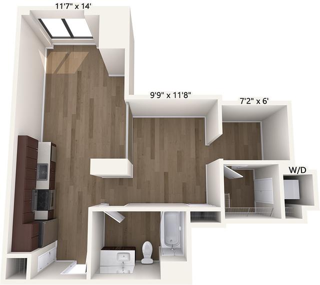 Studio, Chinatown - Leather District Rental in Boston, MA for $2,780 - Photo 1