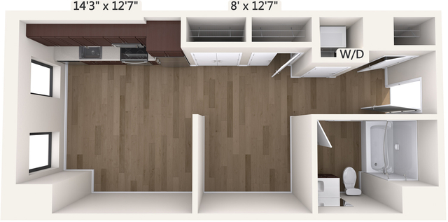 Studio, Chinatown - Leather District Rental in Boston, MA for $2,995 - Photo 1