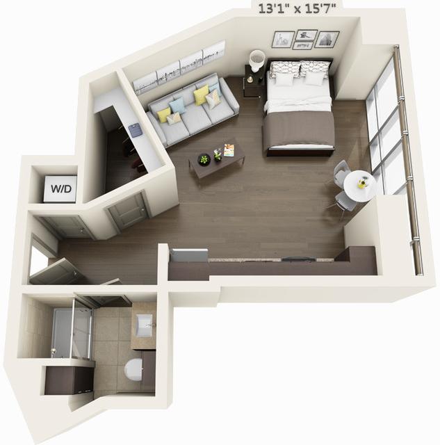 Studio, Seaport District Rental in Boston, MA for $2,444 - Photo 1