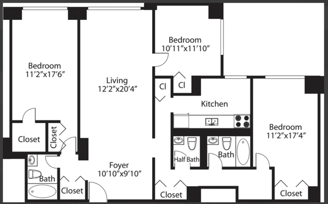 3 Bedrooms, Rose Hill Rental in NYC for $5,927 - Photo 2