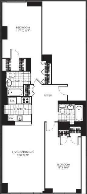 2 Bedrooms, Chelsea Rental in NYC for $5,738 - Photo 2
