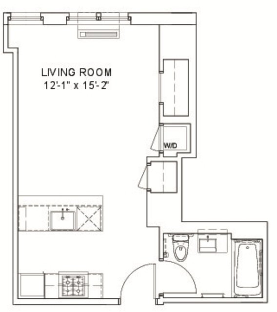 Studio, Hell's Kitchen Rental in NYC for $2,561 - Photo 2