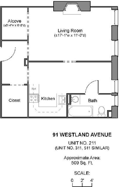 Studio, Fenway Rental in Boston, MA for $2,060 - Photo 1