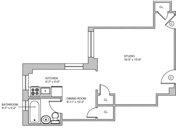 Studio, Greenwich Village Rental in NYC for $3,139 - Photo 2