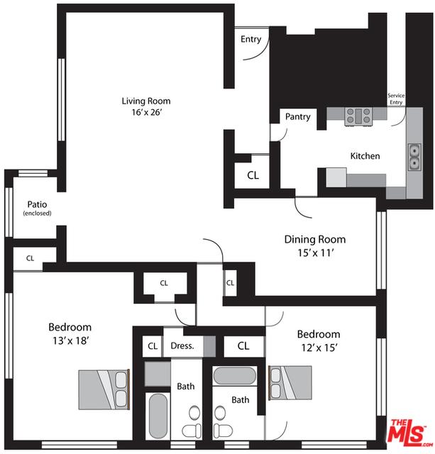 2 Bedrooms, Hancock Park Rental in Los Angeles, CA for $5,500 - Photo 2