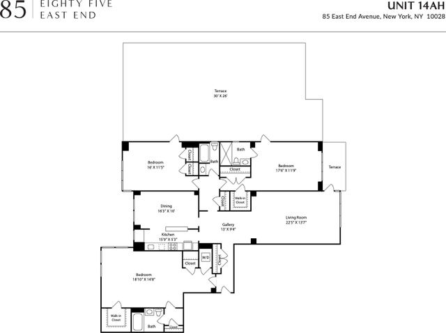 3 Bedrooms, Yorkville Rental in NYC for $13,697 - Photo 1