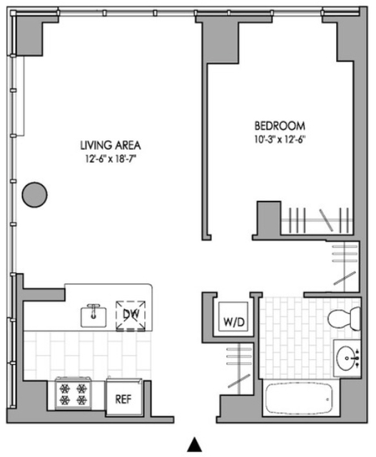 1 Bedroom, Hell's Kitchen Rental in NYC for $3,329 - Photo 2