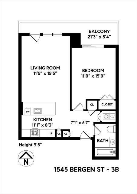 1 Bedroom, Weeksville Rental in NYC for $2,400 - Photo 2