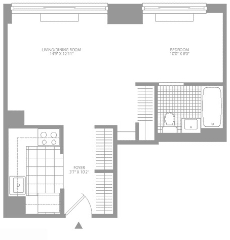 Studio, Civic Center Rental in NYC for $3,225 - Photo 2