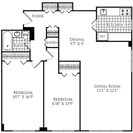 2 Bedrooms, Neighborhood Nine Rental in Boston, MA for $2,580 - Photo 1