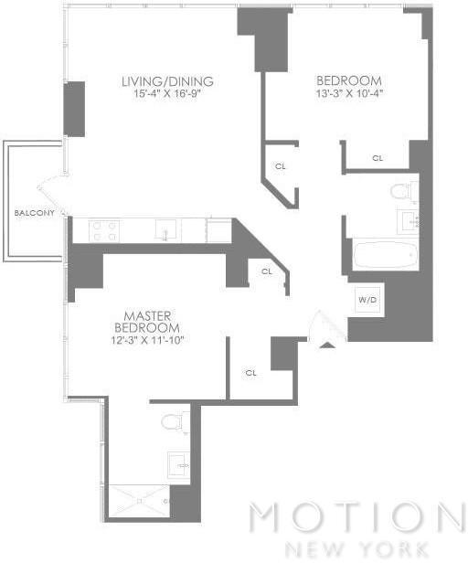 2 Bedrooms, Hell's Kitchen Rental in NYC for $5,535 - Photo 2
