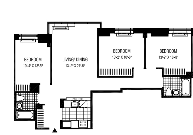 3 Bedrooms, Financial District Rental in NYC for $6,246 - Photo 2