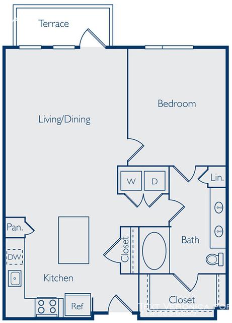 1 Bedroom, Van Zandt Park Rental in Dallas for $1,410 - Photo 2
