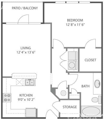 1 Bedroom, Uptown Rental in Dallas for $1,582 - Photo 2