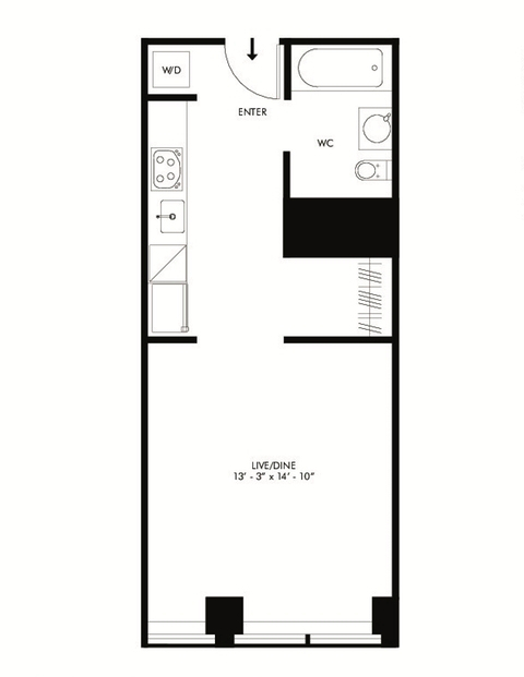 Studio, Financial District Rental in NYC for $1,916 - Photo 2
