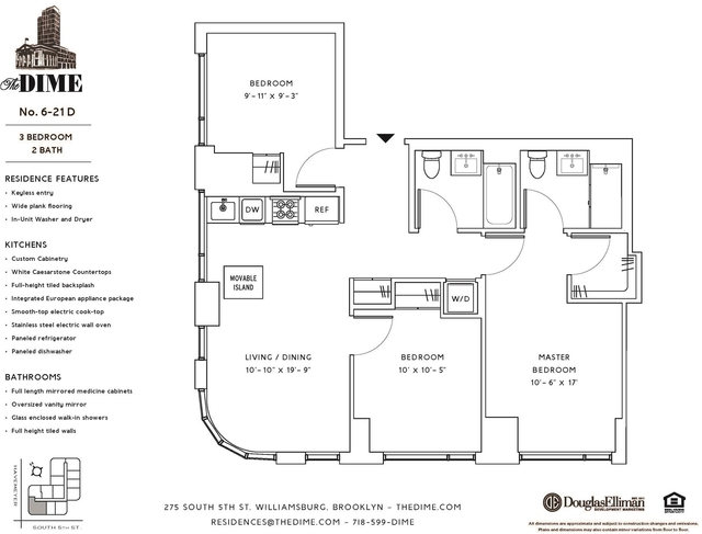3 Bedrooms, Williamsburg Rental in NYC for $5,395 - Photo 2
