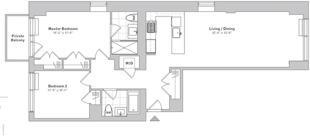 2 Bedrooms, Long Island City Rental in NYC for $3,955 - Photo 2