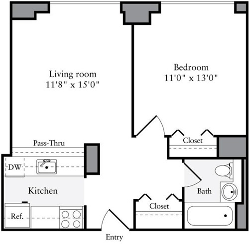 1 Bedroom, Brooklyn Heights Rental in NYC for $3,022 - Photo 2