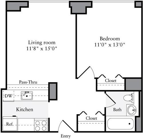 1 Bedroom, Brooklyn Heights Rental in NYC for $3,208 - Photo 2
