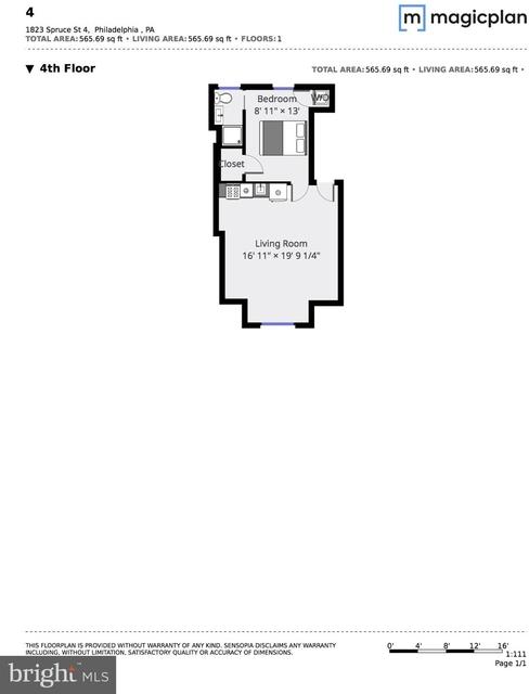 1 Bedroom, Rittenhouse Square Rental in Philadelphia, PA for $1,700 - Photo 2