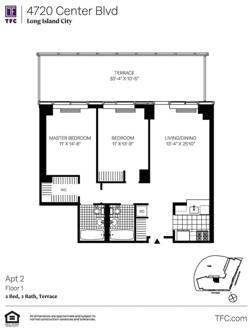 2 Bedrooms, Hunters Point Rental in NYC for $4,371 - Photo 2
