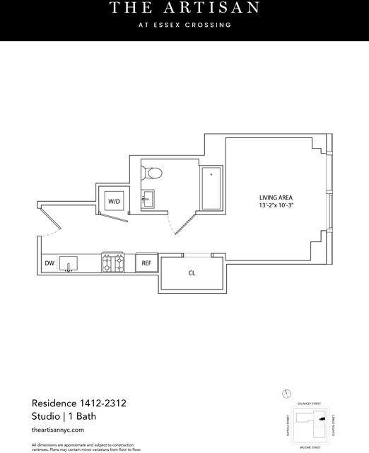 Studio, Lower East Side Rental in NYC for $2,893 - Photo 2