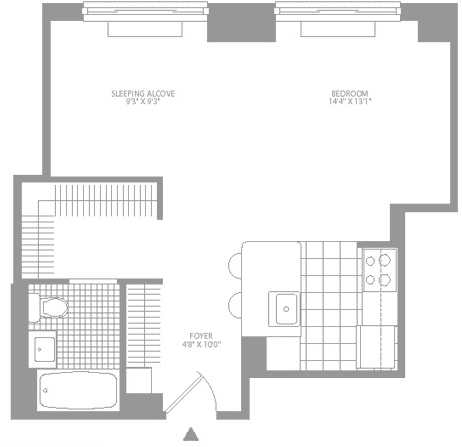 Studio, Civic Center Rental in NYC for $2,419 - Photo 2