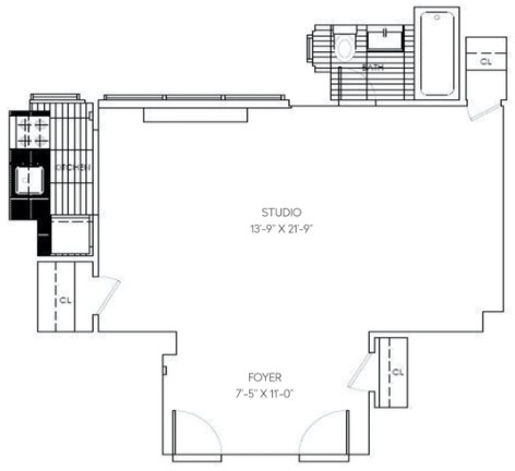 Studio, Sutton Place Rental in NYC for $2,484 - Photo 2