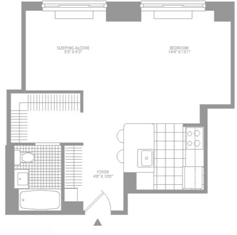 Studio, Civic Center Rental in NYC for $3,250 - Photo 2