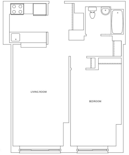 1 Bedroom, Hell's Kitchen Rental in NYC for $2,699 - Photo 2