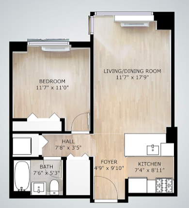 1 Bedroom, NoMad Rental in NYC for $3,480 - Photo 2