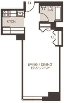 Studio, Financial District Rental in NYC for $2,067 - Photo 2