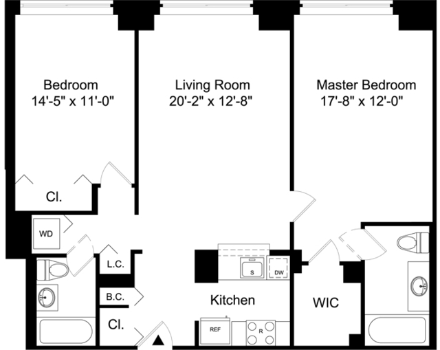 2 Bedrooms, Battery Park City Rental in NYC for $4,996 - Photo 2