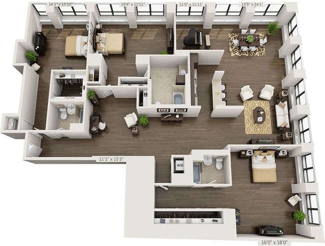 3 Bedrooms, Financial District Rental in NYC for $9,895 - Photo 2