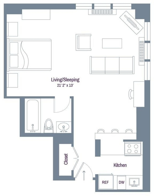 Studio, Rose Hill Rental in NYC for $2,107 - Photo 1