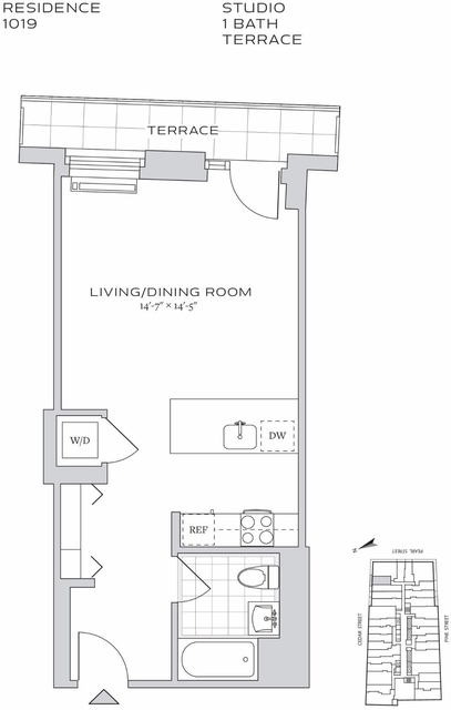 Studio, Financial District Rental in NYC for $2,204 - Photo 2
