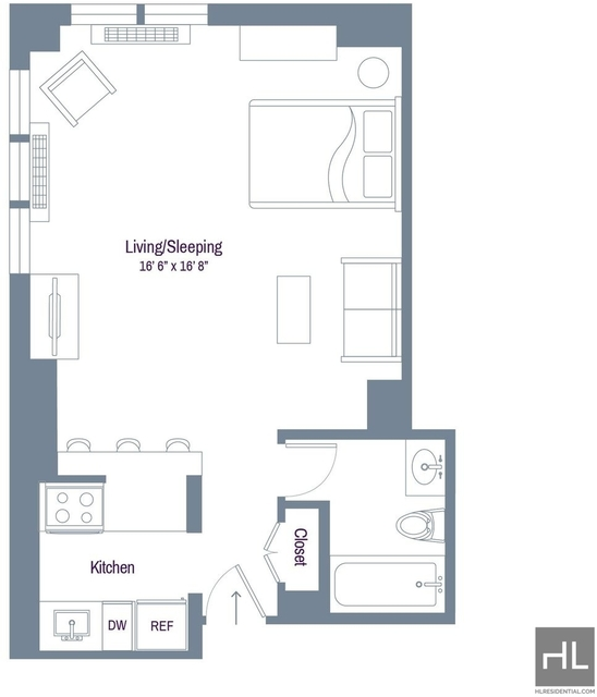 Studio, Rose Hill Rental in NYC for $2,108 - Photo 2