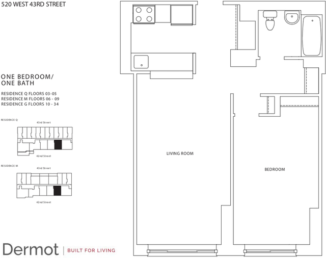 1 Bedroom, Hell's Kitchen Rental in NYC for $2,655 - Photo 2