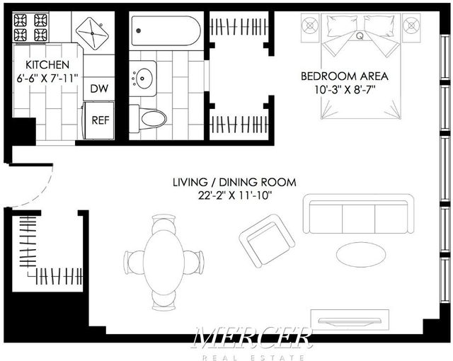 Studio, Turtle Bay Rental in NYC for $2,458 - Photo 2