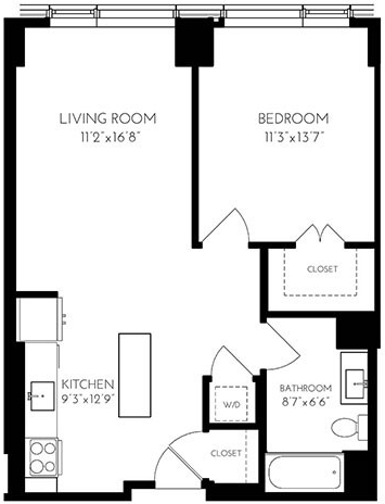 1 Bedroom, Seaport District Rental in Boston, MA for $3,542 - Photo 1